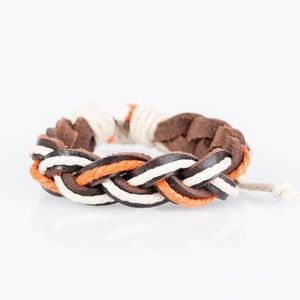 "Jewelry - ✈️ ""Adventure travel"" orange urban bracelet"